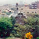 Hansel and Gretel-like building in Güell Park on hill overlooking Barcelona