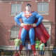Giant Superman in front of Metropolis, IL City Hall.