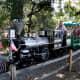 Ride the train through Irvine Park.