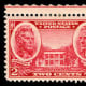 U.S. postage stamp with the Hermitage and Andrew Jackson on it.