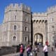 Public entry to Windsor Castle is via the Henry VIII Gate on Castle Hill, across from the building outwith the grounds of the castle where admission tickets must be purchased