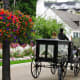 Common mode of transportation on Mackinac Island - Yes...even a hearse (funeral coach)