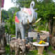Elephants are everywhere, real and statues