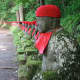 Jizo statues, watching over Kanmangafuchi abyss.