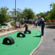 Our boys enjoyed the miniature golf course at the Speedpark.