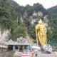 Murugan statue at the entrance to Batu Caves in Gombak.