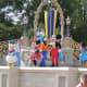 Show outside of Cinderella's Castle at Walt Disney's Magic Kingdom