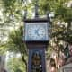 The partially steam-powered clock in Gastown