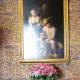 At Catherine de Medici's bedside hangs a masterpiece by Correggio, 16th century Italian Renaissance painter.