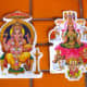 Iron on transfers, bookmarks and stickers of Indian gods are very colourful and make great souvenirs.
