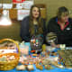 Chloe and Lyn with many great gift items at reasonable prices. Also purveyors of glass pendants made by Club members.