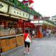 Shops selling traditional snacks along Nakamise Street