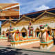 Wat Chaiyamangalaram has one of the largest indoor reclining Buddhas in Asia. It offers a taste of Thailand in Malaysia.