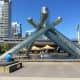 The Olympic Cauldron at Jack Poole Plaza