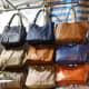 Ladies' handbags. Standard merchandise in all Hong Kong night markets.