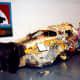 """View of art car named """"Faith"""""""