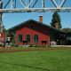 Thomas Edison Depot Museum under the Blue Water Bridge in Port Huron, Michigan