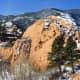 Snow in Red Rock Canyon Open Space in Colorado Springs, Colorado