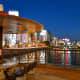 Another Nakasu riverside view. The riverside walk feels really romantic under the blue evening sky.