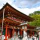 Dazaifu Tenmangu Shrine main prayer hall.