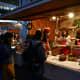 Revelers queuing up to buy hot yuzu drinks.