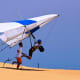 Hang Glider taking off at Jockey's Ridge State Park on the Outer Banks of North Carolina