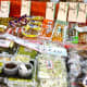 Nuts, pickles, and seeds. If you can't read Japanese, no problem. Just try the samples!