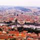 Prague Old Town across the River Vltava.