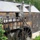 The grist mill and water wheel.