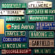 President Street Signs at the National Museum of American History - Smithsonian Institution in Washington DC