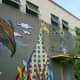 Graffiti art mural across the street from Baldwin Park