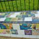 Handmade tiles embellish the exterior of Donovan Park.
