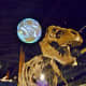 Looking up at Tyrannosaurus Rex & Science on a Sphere