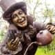 Closeup of Mad Hatter on Wonderland Sculpture