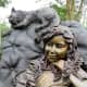 Closeup of Alice and the Cheshire Cat