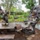 Details on Wonderland Sculpture in Evelyn's Park
