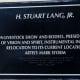 """H. Stuart Lang, Jr."" Sculpture Plaque at Astrodome"