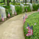 Bollards around the memorial