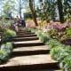 Steps through the gardens