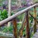 Rustic walkway in the gardens
