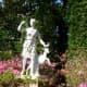 Bayou Bend sculpture near backyard pool