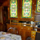 Dining interior of 'Quebec' Rail Car