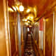"""Hallway inside of """"Quebec' Rail Car"""