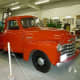 Bright red Chevrolet truck