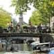 Motor boat in Amsterdam.