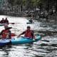 Kayaks in Amsterdam.