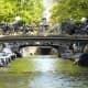 Underneath the bridges in Amsterdam.