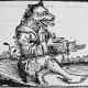A depiction of a werewolf.