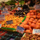 Fruit shop at Pike Place Market in downtown Seattle