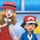 Serena (pre-haircut), Ash, and Pikachu